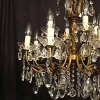 Italian Gilded 12 Light Double Tiered Antique Chandelier (2 of 10)