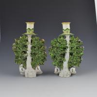 Derby Porcelain Pair Bocage Candlestick Figures Children Gardeners c.1770 (3 of 12)