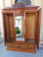 Antique Walnut Wardrobe with Burr Walnut Panels (11 of 11)