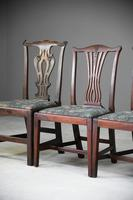 4 Antique Chippendale Style Mahogany Dining Chairs (4 of 12)