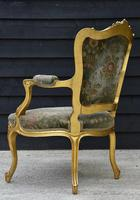Beautiful Matched Pair of Fine Quality French Gilt Armchairs c.1900 (8 of 18)