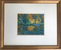 Original Watercolour 'Whiteadder Gorge Autumn' by Eric Huntley RSW. 1927-1992. Signed & dated 1984. Framed (3 of 3)