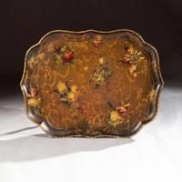 Fine 19th Century Papier Mache Tray by Jennings & Bettridge, London 'Royal Makers'