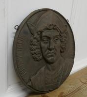 19th Century Cast Iron Portrait Plaque of Christoper Columbus 1451-1506 (5 of 7)
