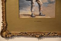"""Oil Painting Pair by H.T Dennis """"Somerset Labourers"""" (6 of 8)"""