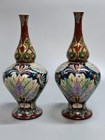 Stunning Pair of Royal Bonn Art Nouveau Vases 'Old Dutch' c.1910 (6 of 14)