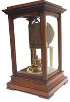 Rare Gustav Becker 400-day Torsion Clock German Mantel Clock Mahogany & Bevelled Glass Case (7 of 13)