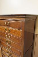 Edwardian Walnut Sheet Music Cabinet. Document Chest of Drawers (8 of 9)