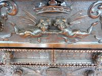 Carved Italian Walnut Chest of Drawers 5 Drawers 1760 (3 of 10)