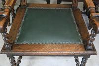 8 Victorian Jacobean Style Oak Dining Chairs (3 of 12)