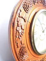 Massive Rare Antique Carved Walnut 8-Day Drop Dial Striking Wall Clock (4 of 14)