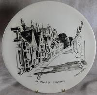 "Three Large  ""Views of Stamford"" Plates painted by Arthur Dilkes (2 of 8)"