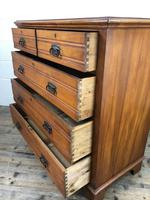 Edwardian Satinwood Chest of Drawers (9 of 10)