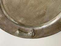 Large Danish Sporting Victorian 19th Century Danish Silver Plate Salver (27 of 31)