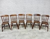 Set of 6 Antique Spindleback Kitchen / Dining Chairs (3 of 8)