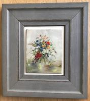 Original Oil on Board 'Daisies & Poppies' by Lillias Blackie. Signed & Framed (2 of 2)