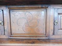 Country Oak Court Cupboard 1734 Carved Initials RTK (3 of 14)