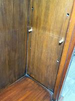 English Small Regency Style Dwarf Recessed Mahogany Open Bookcase (43 of 44)