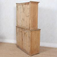 Arts & Crafts Pine Glazed Bookcase School Display Cabinet Dresser (12 of 12)