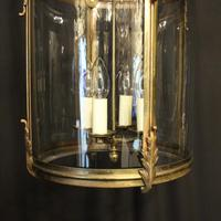 French Large Brass Four Light Antique Lantern (4 of 10)