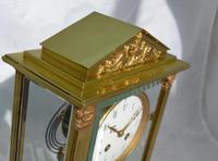 Slim French Four Glass Mantel Clock (6 of 6)
