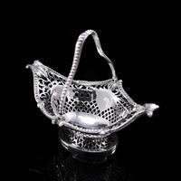 Antique Victorian Small Silver Sweet Basket / Bonbon Dish - Charles Stuart Harris 1890 (2 of 14)