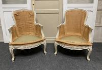 Pair of French Bergere Chairs Original Finish (5 of 14)