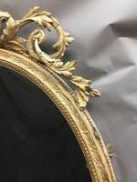 19th Century Ornate Oval Wall Mirror (9 of 16)