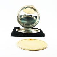 Sterling Silver Blue Bird Guilloche Enamel Compact Mirror (5 of 7)