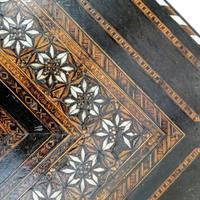 Antique Moorish Style Spanish Side Table with Arabic Writing (9 of 12)