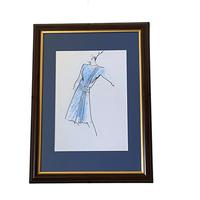 Set of 9 Original Drawings by Ian Thomas - Dressmaker for the Royal Family (8 of 9)