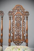 Pair William & Mary Style Chairs (10 of 12)