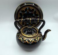 Jackfield Ware Teapot & Stand c.1840 (3 of 7)