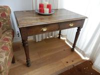 Solid oak school desk