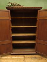 Antique Oak Linen Cupboard, Housekeepers Cupboard Larder with Shelves (4 of 16)
