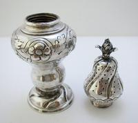 Antique Berthold Muller Neresheimer Victorian Solid Sterling Silver Pepper Pot Shaker Cruet Caster 1900 (7 of 8)