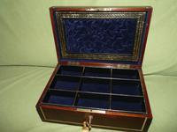 Quality Unisex Inlaid Rosewood Jewellery Box. c1840 (10 of 11)