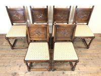 Set of Six Early 20th Century Antique Oak Dining Chairs (2 of 12)