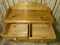 Victorian Stripped Pine Chest of Drawers with Shaped Upstand & Wooden Knobs (5 of 8)