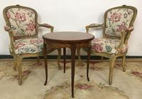 French Roll End Style Double Bed Frame With Matching Armchairs & Side Table (15 of 17)