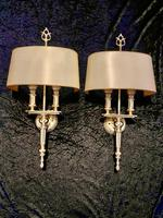 Two Light French Brass Wall-lights
