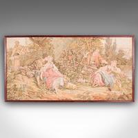 Antique Tapestry Panel, French, Framed, Needlepoint, Decorative, Edwardian, 1910 (2 of 10)
