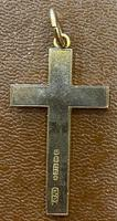 9ct Rose Gold Engraved Cross (3 of 5)