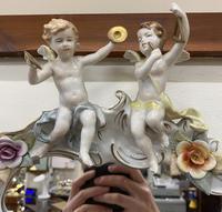 Beautiful Large Sherholtz, Dresden Porcelain Mirror (2 of 5)