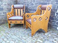 Pair of Arts & Crafts Chairs - Goodyers (4 of 9)