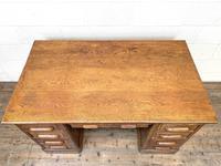 Antique Oak Pedestal Desk (4 of 10)