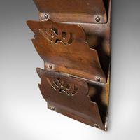 Small Antique Letter Rack, English, Brass, Hanging, Art Nouveau, Victorian, 1900 (7 of 10)