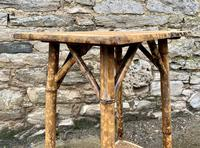 Antique Victorian Bamboo & Rattan Occasional Side Table (4 of 9)