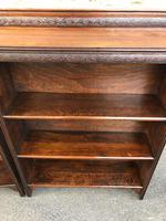 Pair of Antique Oak Open Bookcases (3 of 10)