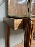 Brass Glazed Shop Display Cabinet on Wooden Stand with Drawer (13 of 13)